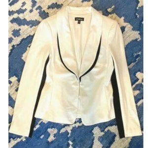 Bebe 4 Black White Tailored Blazer Jacket Career